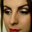 Zlatni blagdanski makeup