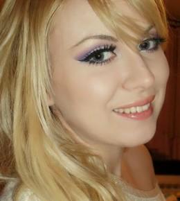 Ljubičasto-rozi makeup