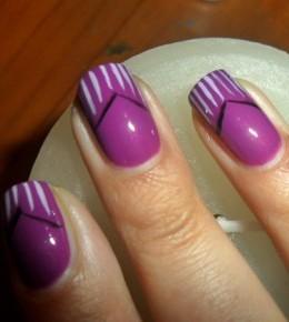 Nail art izazov – 6.dan: Ljubičasti nokti