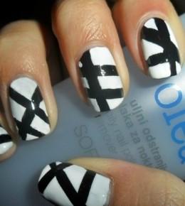 Nail art izazov dan 7/8 – Crno bijeli i Metallic nokti