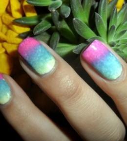 Nail art izazov – 9./10. dan: Gradient Rainbow nokti