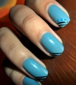 Nail art izazov – 5.dan: plavi nokti