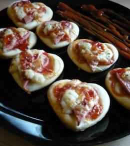 Pizza srca za Valentinovo