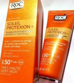 RoC Soleil Protexion+ 2u1 ultra lagani fluid protiv tamnih mrlja SPF 50+