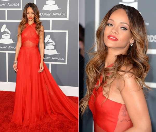 rihanna-2013-grammy-awards-red-carpet-azzedine-alaia-red-dress