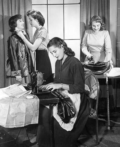 sewing women