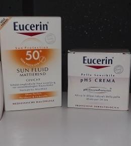 Eucerin pH5 krema i Matirajući fluid za zaštitu od sunca SPF 50