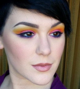 MAKEUP CHALLENGE: Sunset Makeup