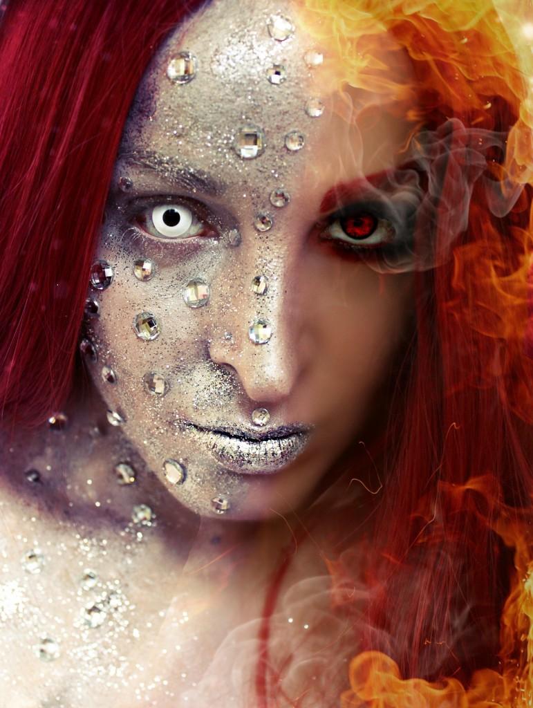Emma Frost on fire 057