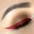 Crveni eyeliner + dvije opcije za usne