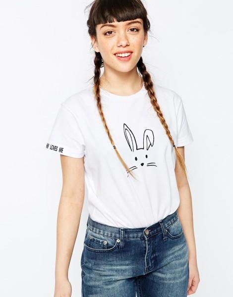 Asos oversized bunny t-shirt 14f