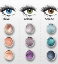 Make-up po bojama očiju
