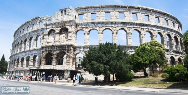 One of the best preserved ancient Roman arenas (similar to the famous Colosseum in Rome): Pula, Croatia