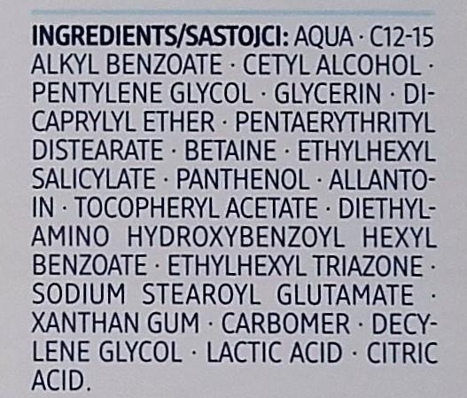 Balea MED Ultrasensitive Tagescreme ingredients