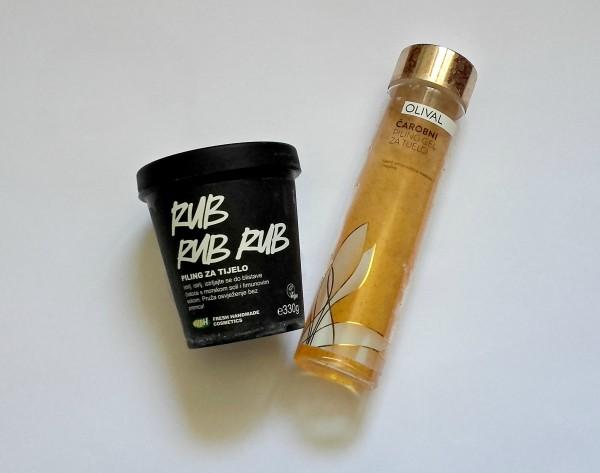 lush rub rub rub piling olival čarobni piling gel za tijelo